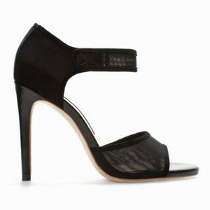 Zara Collection, Black Peep Toe Ankle Strap Heel